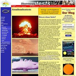 Der Weg e.V. - Jesus ist der Weg!: Atomtests