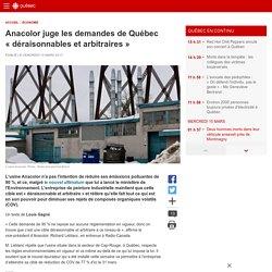 Anacolor juge les demandes de Québec «déraisonnables et arbitraires»