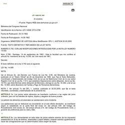 Derecho del Bienestar Familiar [LEY_1490_191962_CH]