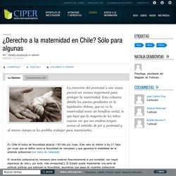 ¿Derecho a la maternidad en Chile? Sólo para algunas