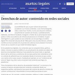 Derechos de autor: contenido en redes sociales