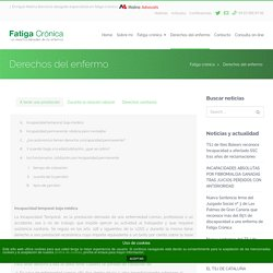 Fatiga crónicaDerechos del enfermo - Fatiga crónica