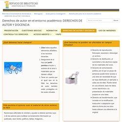 DERECHOS DE AUTOR Y DOCENCIA - Derechos de autor en el entorno académico