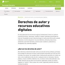 Derechos de autor y recursos educativos digitales