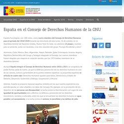 España en el Consejo de Derechos Humanos de la ONU - Misión Permanente de España ante las Naciones Unidas
