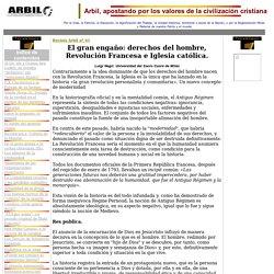 Revista ARBIL, nº 61. El gran engaño: derechos del hombre, Revolución Francesa e Iglesia católica.