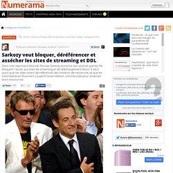 Sarkozy veut bloquer, déréférencer et assécher les sites de streaming et DDL