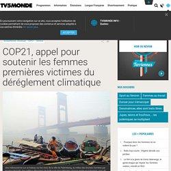 COP21, appel pour soutenir les femmes premières victimes du déréglement climatique