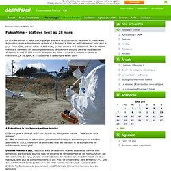 Fukushima – état des lieux au 28 mars