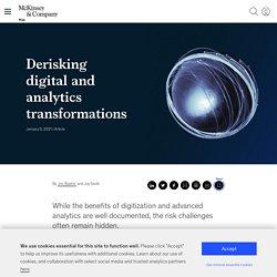 Derisking digital and analytics transformations
