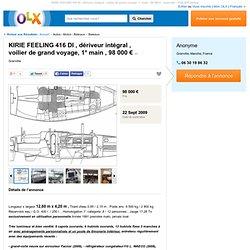 KIRIE FEELING 416 DI , dériveur intégral , voilier de grand voyage, 1° main , 98 000 € - Granville - Bateaux - VOILIER feeling