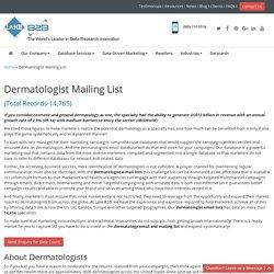 Dermatology Mailing Database