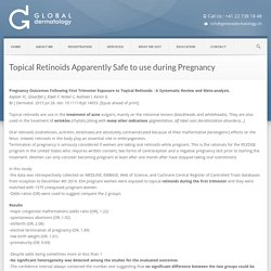 Global Dermatology » Topical Retinoids Apparently Safe to use during Pregnancy