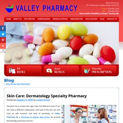 Skin Care: Dermatology Specialty Pharmacy