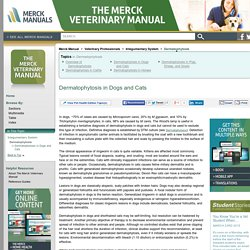 Dermatophytosis in Dogs and Cats: Dermatophytosis: Merck Veterinary Manual