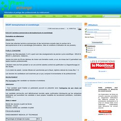 Les métiers - Formations - DEUST dermopharmacie et cosmétologie - Echange et information des pharmaciens assistants d'officine et préparateurs en pharmacie