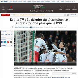 Droits TV : Le dernier du championnat anglais touche plus que le PSG