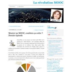Monter un MOOC, combien ça coûte ? Dernier épisode