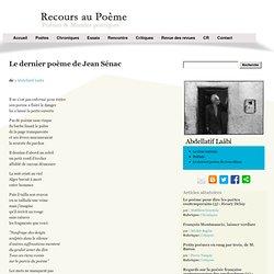 Le dernier poème de Jean Sénac