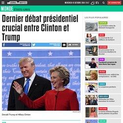 Dernier débat présidentiel crucial entre Clinton et Trump