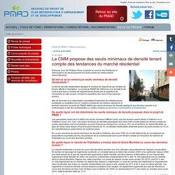 Dernière nouvelle:Projet de PMAD