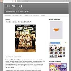 """FLE en ESO: Dernière scène ... film """"Les Choristes"""""""