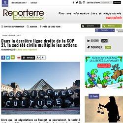 Dans la dernière ligne droite de la COP 21, la société civile multiplie les actions
