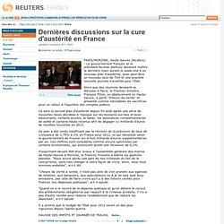Dernières discussions sur la cure d'austérité en France