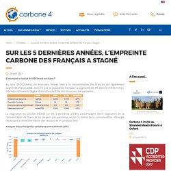 Sur les 5 dernières années, l'empreinte carbone des Français a stagné - carbone4.com