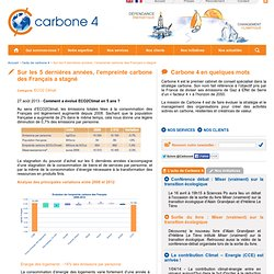 Sur les 5 dernières années, l'empreinte carbone des Français a stagné