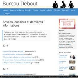 Articles, dossiers et dernières informations au sujet des bureaux debout et de la position assise