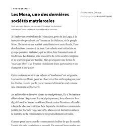 Les Moso, une des dernières sociétés matriarcales