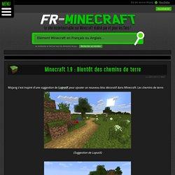 Dernières news: Minecraft 1.9 : Bientôt des chemins de terre