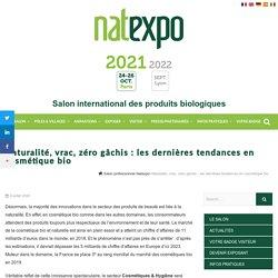 Les dernières tendances en cosmétique bio - NATEXPO