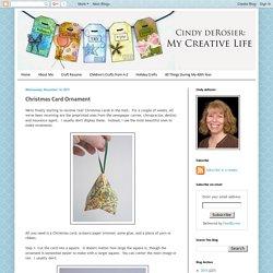 Cindy deRosier: My Creative Life: Christmas Card Ornament