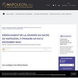 Déroulement de la journée du Sacre de Napoléon, 11 frimaire an XIII (2 décembre 1804) - napoleon.org