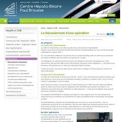 Le Déroulement d'une opération - CHB - Hôpital Paul Brousse Villejuif