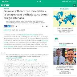 Derrotar a Thanos con matemáticas: la 'escape room' de fin de curso de un colegio asturiano