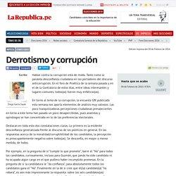 Derrotismo y corrupción