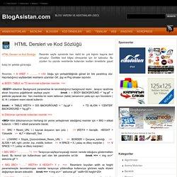 HTML Dersleri ve Kod Sözlüğü