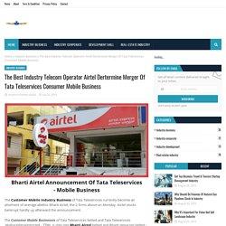 The Best Industry Telecom Operator Airtel Dertermine Merger Of Tata Teleservices Consumer Mobile Business