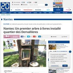 Nantes: Un premier arbre à livres installé quartier des Dervallières