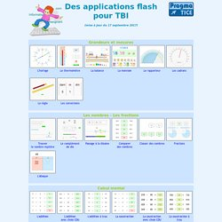 Des applications flash pour TBI