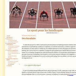 Des bienfaits - Le sport pour les handicapés