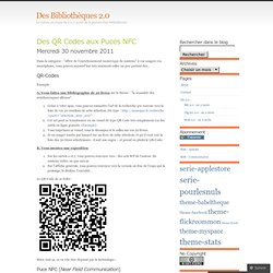 Des QR Codes aux Puces NFC