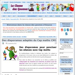 Des diaporamas adaptés du Cap maths CM1