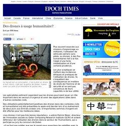 Des drones à usage humanitaire?