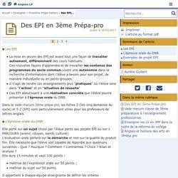 Des EPI en 3ème Prépa-pro- Anglais LP