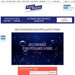 Des fontaines d'eau pétillante à Paris