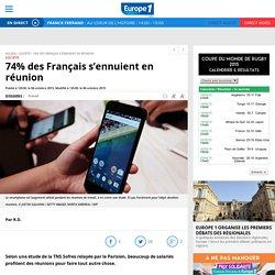74% des Français s'ennuient en réunion